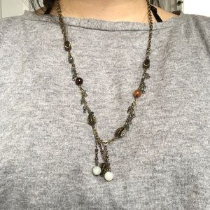 Rustic bronze necklace